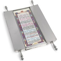 17. the benedictions recited over the reading of the torah, in silver-plated case, sol nodel, new york, circa 1955