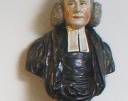 64. enoch wood pearlware bust of reverend george whitefield, circa 1800
