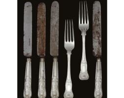 11. a set of royal german silver knives and forks, made by a member of the matthias family, hanover, 1860
