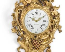 89. a louis xv patinated and gilt bronze cartel clock mid-18th century, dial signedbeliard fils a paris