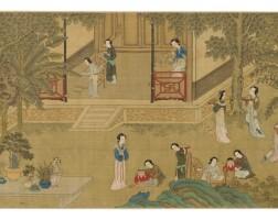 37. dans le style deqiu ying la production de la soie  