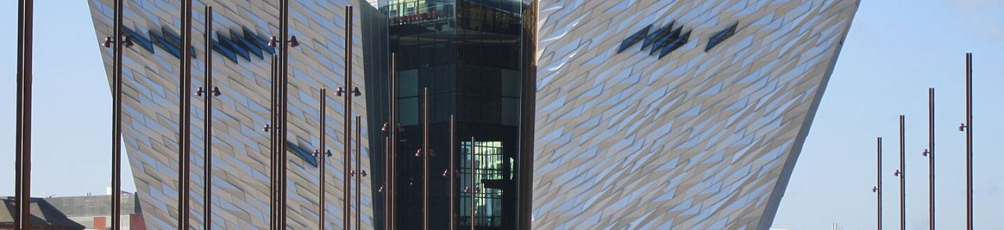 Exterior view of Titanic Belfast.