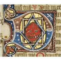 8. three leaves from a psalter, from an illuminated manuscript in latin, on vellum