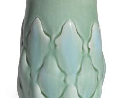 536. kate malone   small waddesdon wall vase green