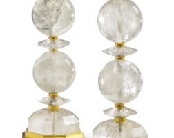 28. a pair of rock crystal lamps