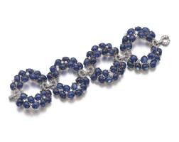 220. 藍寶石配鑽石手鏈, 寶格麗(bulgari)
