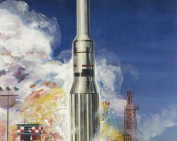 12. ellis, charles. saturn a-1 rocket, circa 1959