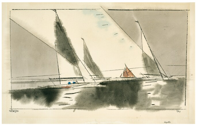 Lyonel Feininger Regatta drawing