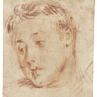 332. jean antoine watteau   study of the head of a young man