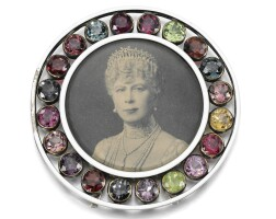 1. the silver, gem-set and enamel photograph frame, circa 1900