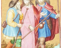5. christ and the disciples on the way to emmaus [perhaps netherlands, late 16th or early 17th century]