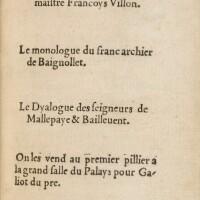 104. villon. les œuvres... paris, galliot du pré, 1532. petit in-8. maroquin aubergine de lortic.