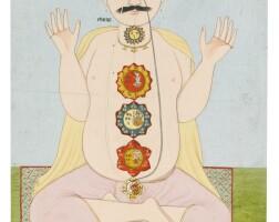 99. the cakras of the subtle body, kangra, circa 1820