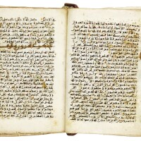 8. a rare miniature qur'an on vellum, north africa, near east or persia, 10th century ad |