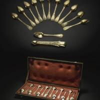 36. 荷蘭皇后奧坦絲,法國皇室御用銀鎏金茶具 巴黎, 1819-1838年 |