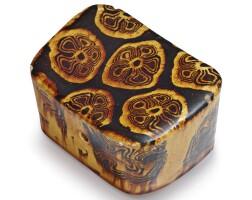 307. a marbled sancai pillow tang dynasty  