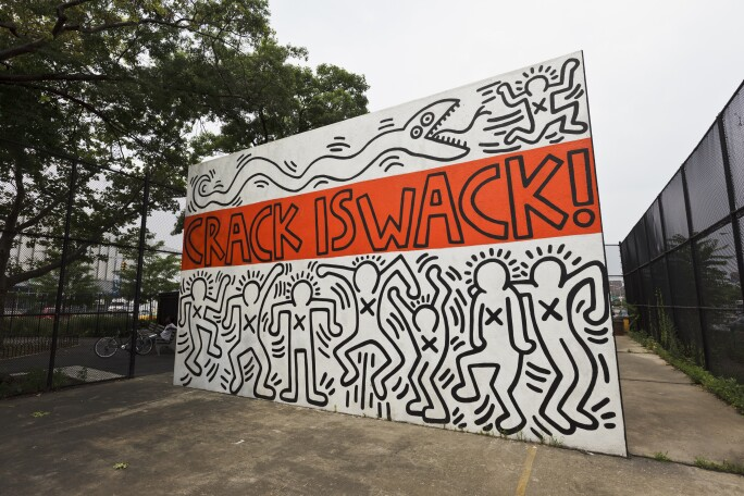 21 Facts: Keith Haring: Crack is Wack mural