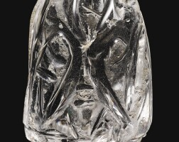 137. a large fatimid rock crystal chess piece, egypt, 11th century