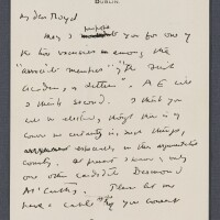 43. w. b. yeats, autograph letter signed, to ernest boyd