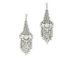 3. pair of diamond earrings