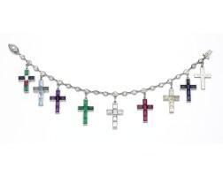 17. the gem-set and diamond cross bracelet, cartier, 1934-1944