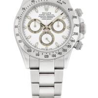 14. 勞力士(rolex) | 116520型號「daytona」精鋼自動上鏈計時鍊帶腕錶,年份約2013。