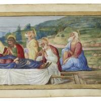 7. the dormitionof the virgin, border miniatureprobably from a largechoirbook [italy (verona), c.1490-1500]