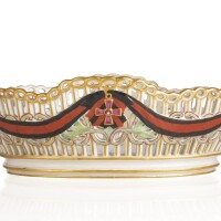 29. a russian porcelain basket from the service for the imperial order of st. vladimir, gardner porcelain manufactory, verbilki, 1783-1785