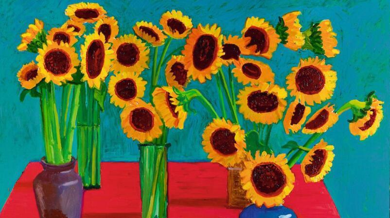 大衛・霍克尼《三十朵向日葵》