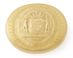 7. the gage gold freedom box, otto philip daniel parisien, new york, 1773