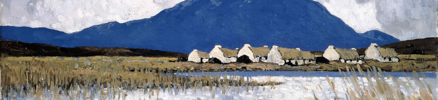 Painting of a Dublin landscape in an auction selling Irish paintings