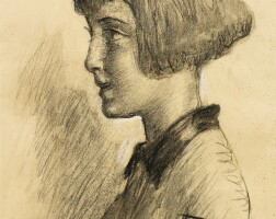 67. angelo dall' oca bianca   portrait of a young girl in profile