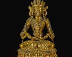 302. a gilt-bronze figure of amitayus qing dynasty, 17th / 18th century |