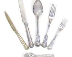 132. george iii/iv hourglass pattern table silver, paul storr, london, 1809-20 |