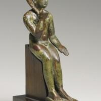 11. an egyptian bronze figure of harpocrates, late period, 716-30 b.c.