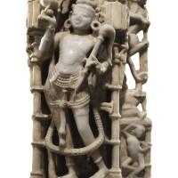 910. a white marble relief fragment mount abu region, india, circa 12th century  