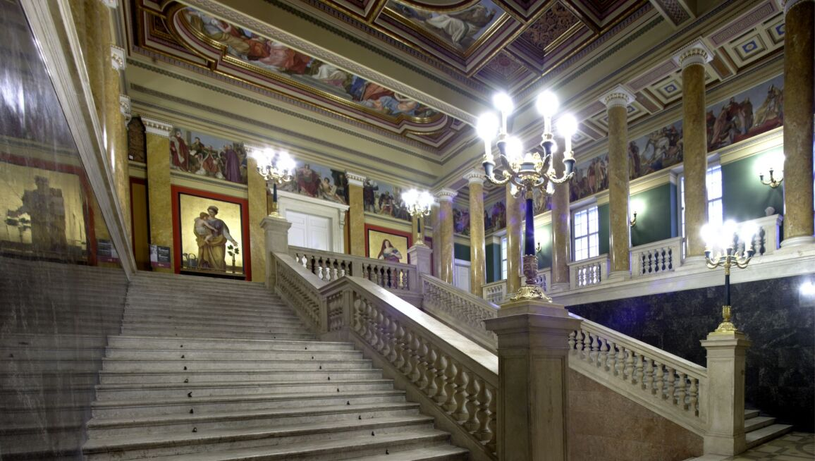The main staircase, Hungarian National Museum