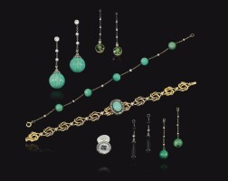 38. collection of gem set and diamond jewels, late 19th/early 20th centuries