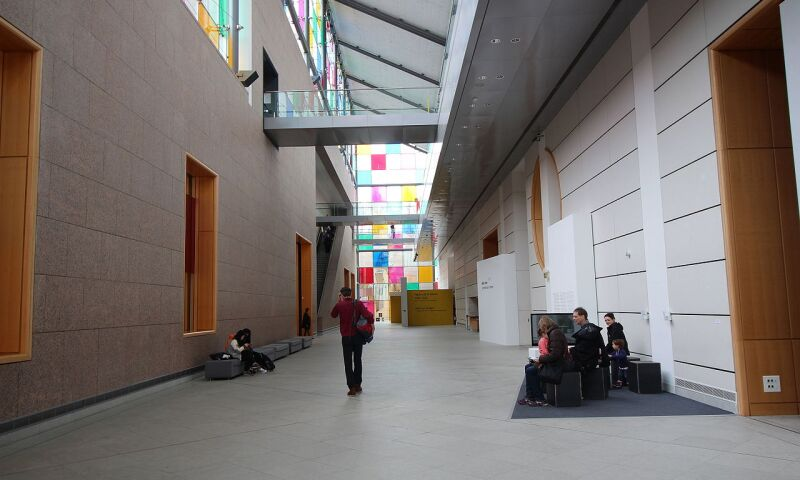 Interior view of the Musée d'Art Moderne et Contemporain in Strasbourg.
