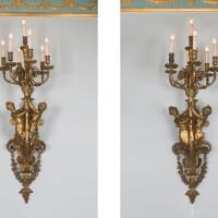 2. alarge pair of napoleon iii style gilt-bronze hall lights