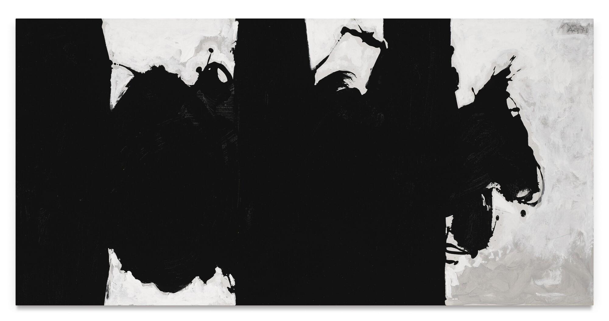 Robert Motherwell, Elegy Study No. XIII, 1976-79. Estimate $1,500,000–2,000,000.