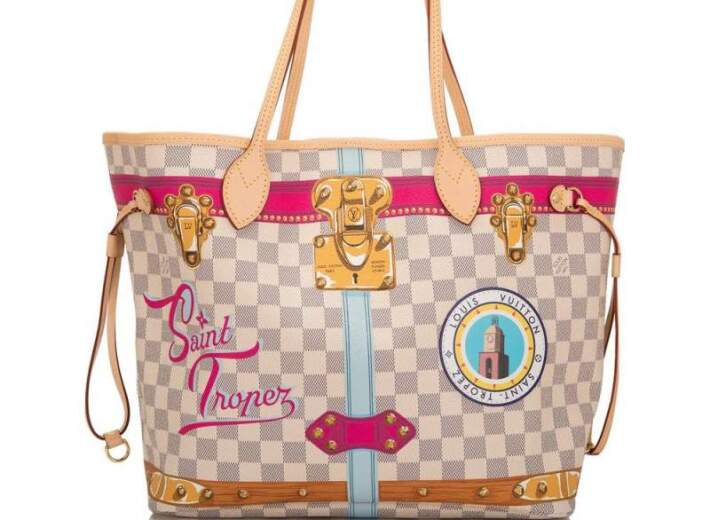 Louis Vuitton Bag in an auction selling luxury bags