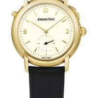 217. 愛彼(audemars piguet) | 25750.ba.oo.a002xx.01型號「jules audemars grande sonnerie」限量版黃金大小自鳴二問報時腕錶,年份約1995。
