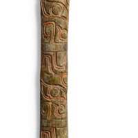 3007. a rare bone ceremonial spatula shang dynasty |