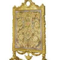 6. an important and very fine north italian neoclassical two-tone gilded firescreen, attributed to giuseppe bonzanigo piedmontese, circa 1780