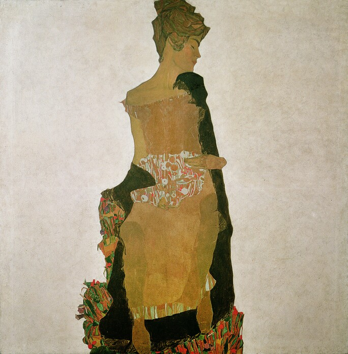 Profile view of a woman.