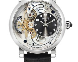 140. bovet   recital 12 monsieur dimier, reference r120006-07a white gold reverse second wristwatch with 7 day power reserve indication, circa 2015