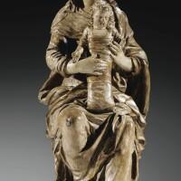 3. importante vierge à l'enfant, ateliers du maine, vers 1630, attribuée àgervais i delabarre (1593 - 1644)