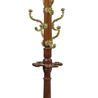 4. an early victorianbrass-mounted mahogany hat stand and umbrella stand, after a design by a.w.n. pugin, circa 1845 |