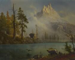45. albert bierstadt   mountain lake
